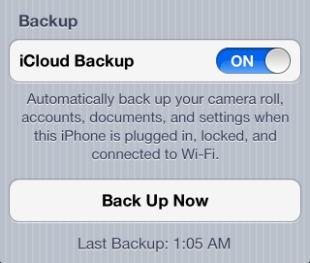 backup iphone via icloud