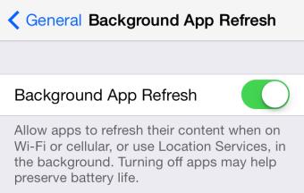 ios 7.1 background app refresh