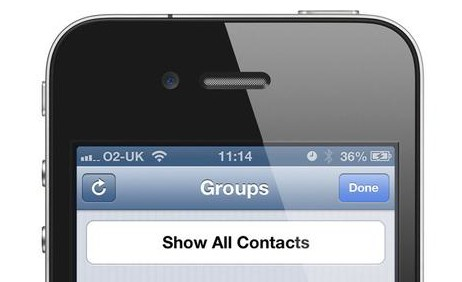 contacts on iphone 5