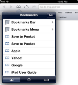 safari bookmarks on iphone