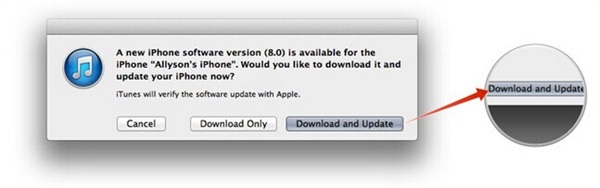ios 8 upgrade with itunes