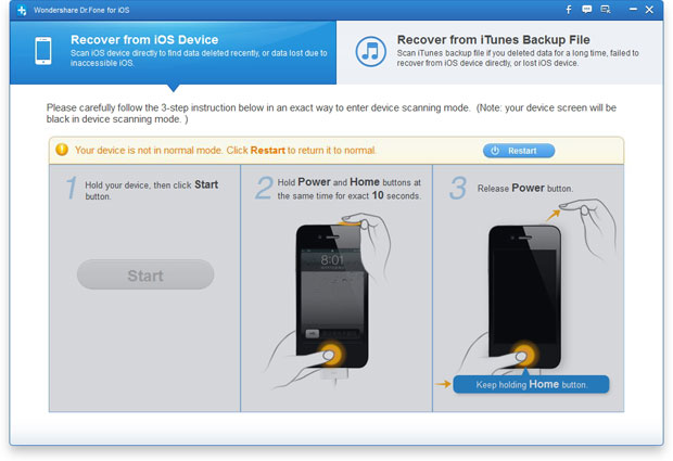 exit recovery mode of iphone on windows