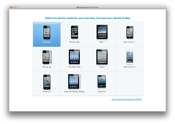 select iphone model for itunes bakcup